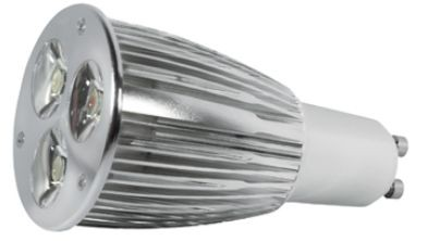 Power LED, GU10, 230V, 7,5W, 260lm, Ø 50 x 100mm, 4000K, Abs