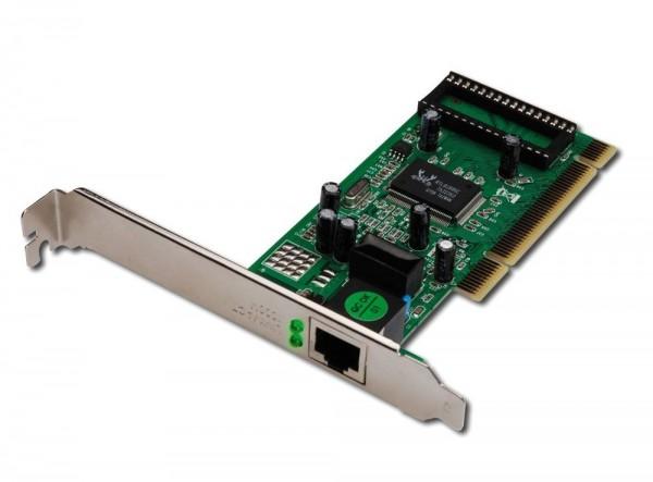 Gigabit PCI Karte, 32 Bit, RJ45, 10/100/1000, Digitus® [DN-10110]