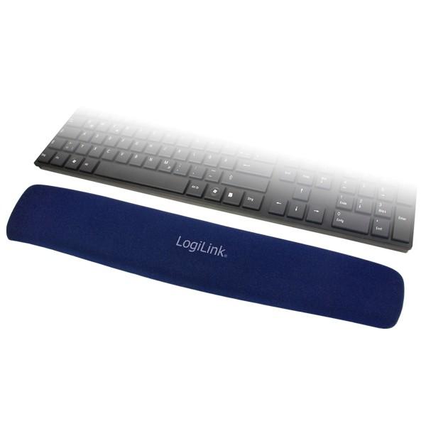 LogiLink® Tastatur Gel Handballenauflage, blau [ID0045]