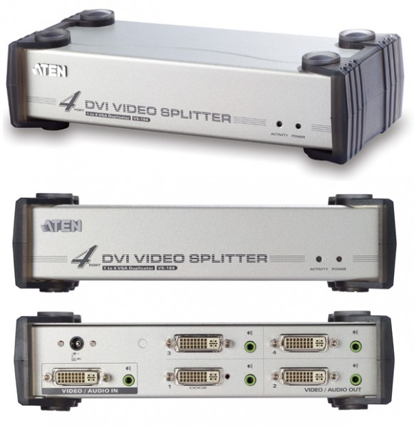 Aten® Video Splitter, 4 port DVI mit Audi VS-164