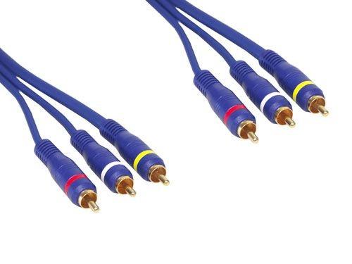 Premium Video-Audio-Verbindung 3 X Cinch St / St. Länge: 10m, Good Connections®