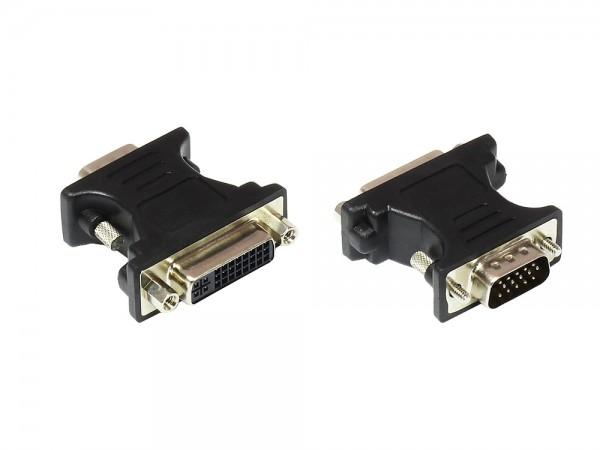Adapter DVI-I 24+5 Buchse an VGA-Stecker, Good Connections®