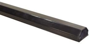 Kabelkanal Aluminium 33mm, 2-teilig, Länge 0,75m, schwarz