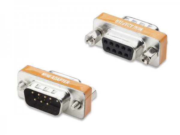 Nullmodemadapter, 9-pol SubD Buchse an Stecker, Good Connections®