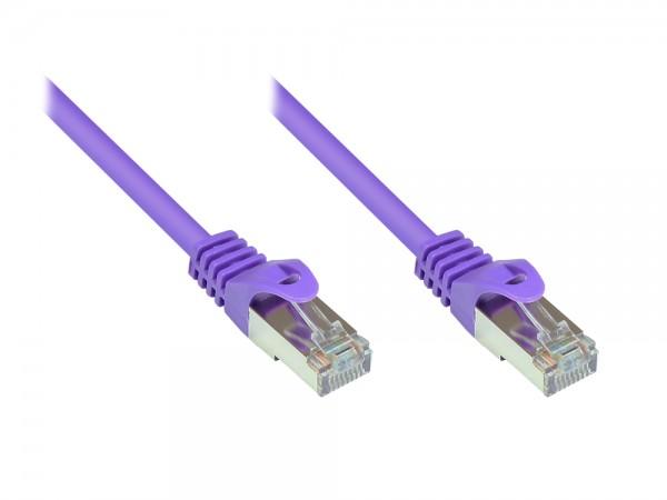 RNS® Patchkabel mit Rastnasenschutz, Cat. 5e, SF/UTP, PVC, 100MHz, violett, 3m, Good Connections®