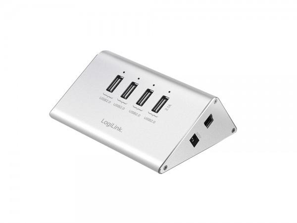 USB 2.0 Hub 4-Port mit Netzteil, LogiLink® [UA0224]