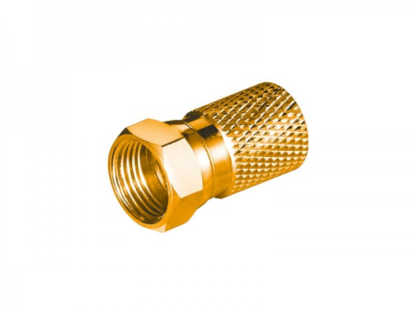 F-Stecker, Ø 8,2mm, vergoldet, Good Connections®