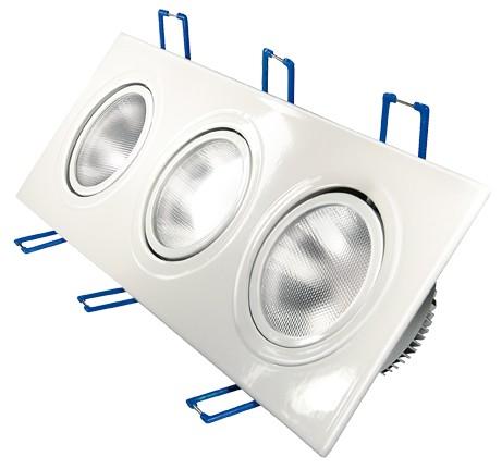 LED Einbaustrahler, 4,5W, 230V, 780 lm, 3000K, (warmweiß), dimmbar, A, 30° Abstrahlwinkel