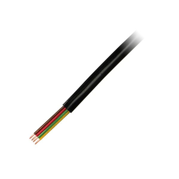 LogiLink® Telefonkabel flach 4-adrig 100m, schwarz [CM04]