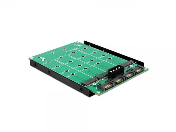 "Konverter 3,5"", 4 x SATA 7 Pin an 4 x M.2 NGFF, Delock® [62554]"