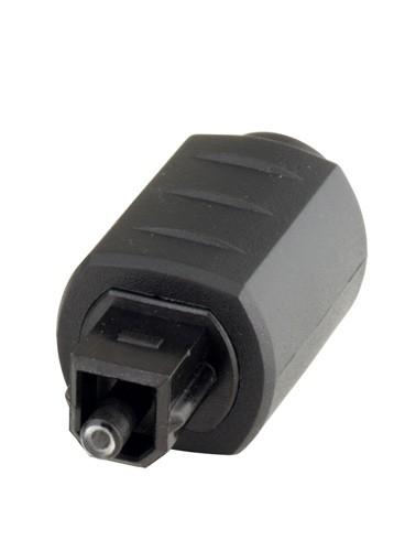 Adapter Toslink Stecker auf 3,5mm Mini Buchse, schwarz, Good Connections®