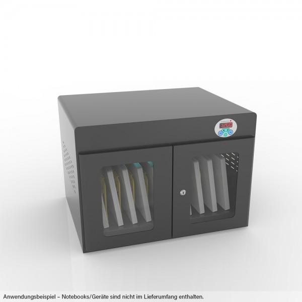 """Notebook-Ladewagen / Ladeschrank für Geräte bis 14"""" und bis zu 10 Geräten, inkl. UV-C Desinfektion und Smart Control, schwarz, Good Connections®"""