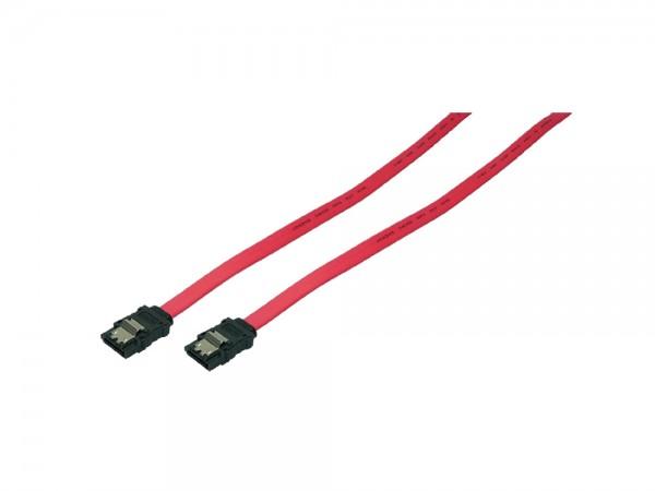 SATA 6 GBit/s Anschlusskabel mit Sicherungslasche, rot, 0,9m, LogiLink® [CS0008]