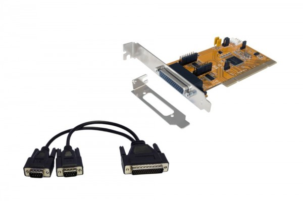 PCI 2S Serielle RS-232 Karte inkl. Low Profile Bügel (SystemBase Chip-Set), Exsys® [EX-43362]