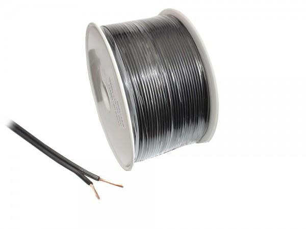 Lautsprecherkabel Basic, 2x 1,5mm², Innenleiter CCA, schwarz, 100m Spule,Good Connections®