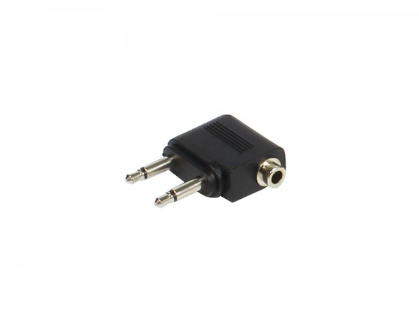 Audio Adapter 2 x 3,5mm Mono Stecker an 3,5mm Stereo Buchse, vergossen, Good Connections®