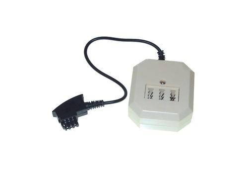 Telefontischsteckdose F Stecker an NFF + 6p4c (RJ11) Buchse, Länge:0,2m, Good Connections®