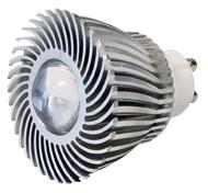Power-LED, 3W, 230V, 120 lm, 3800K, (warmweiß), nicht dimmbar, A, 45° Abstrahlwinkel