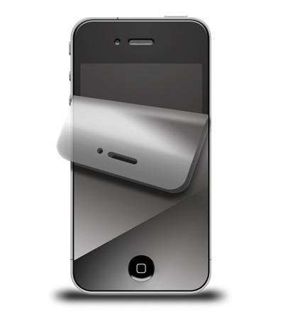 iPhone 4 Displayschutzfolie, verspiegelt