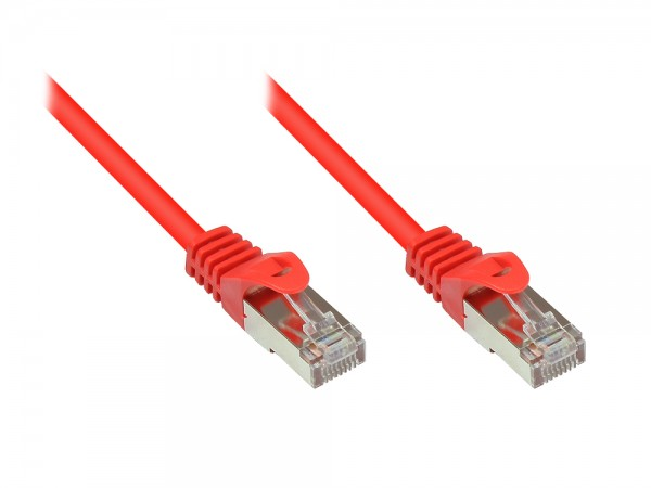RNS® Patchkabel mit Rastnasenschutz, Cat. 5e, SF/UTP, PVC, 100MHz, rot, 0,5m, Good Connections®