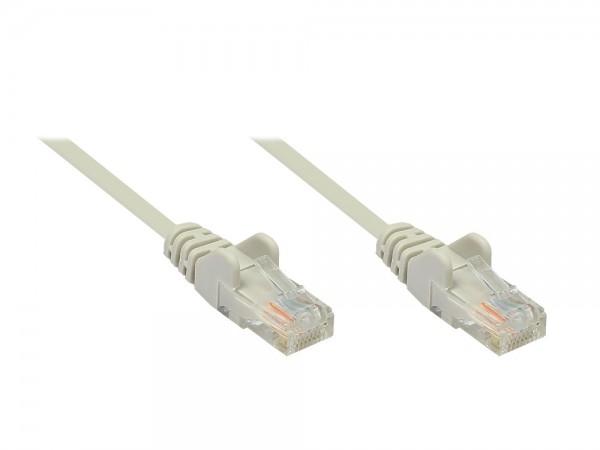 Patchkabel, Cat. 5e, U/UTP, grau, 1m, Good Connections®