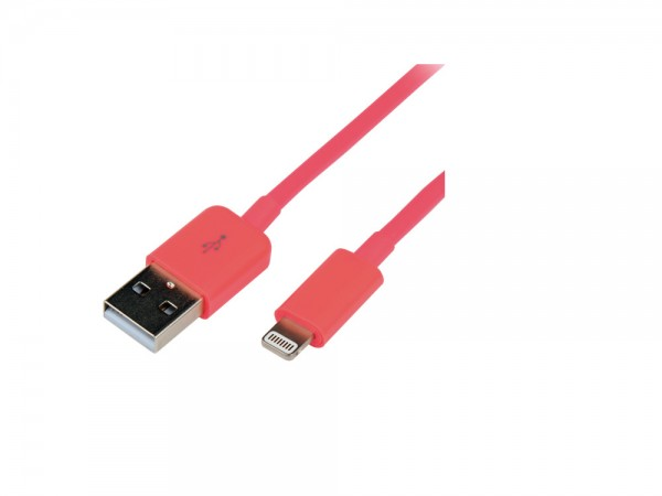 Anschlusskabel USB zu Apple® Lightning, pink, LogiLink® [UA0200]