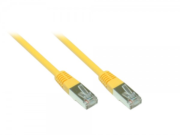 Patchkabel, Cat. 5e, F/UTP, gelb, 15m, Good Connections®