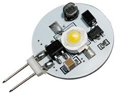 LED G4 Leuchtmittel, 1x High Power LED, 70 lm, 1W, 12-30V AC