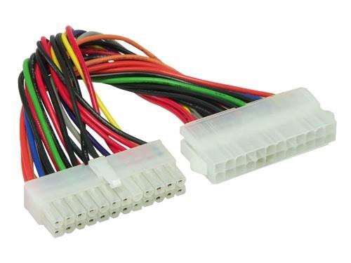 Stromkabelverlängerung 24pol St. an 24pol Bu, Länge: 20cm, Good Connections®