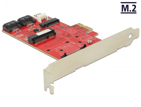 PCI Express Karte an 1 x intern M.2 NGFF, 1 x intern mSATA, 1 x intern MiniPCIe, Delock® [89380]