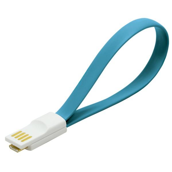 Kabel USB 2.0 zu Micro-USB, mit Magnetverschluss im Stecker, blau, LogiLink® [CU0085]