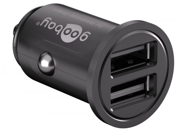 KFZ USB-Ladeadapter, 2-Port, 4,8 A, schwarz