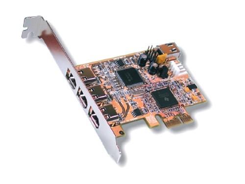FireWire 1394A PCI-Express Karte 3+1 Ports, TI Chipsatz, Exsys® [EX-16500E]