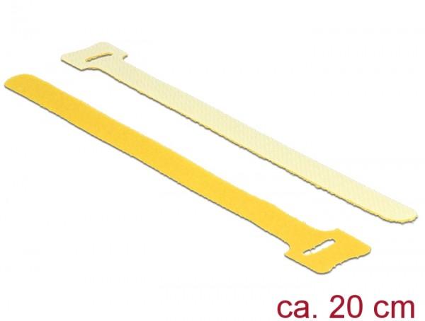 Klett-Kabelbinder L 200mm x B 12mm, 10 Stück, gelb, Delock® [18699]