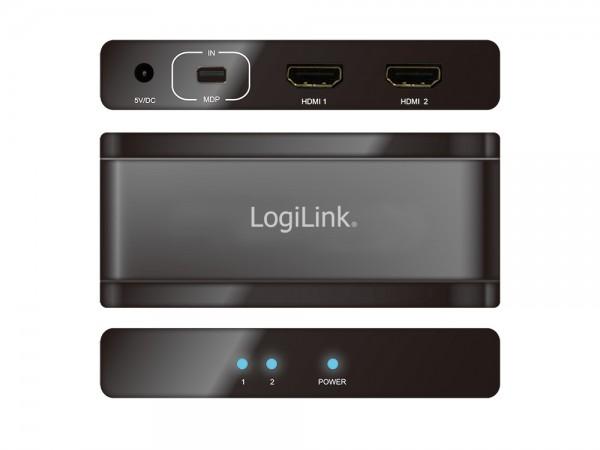 4K DisplayPort 1.2 zu 4x HMDI Splitter, LogiLink® [CV0094]