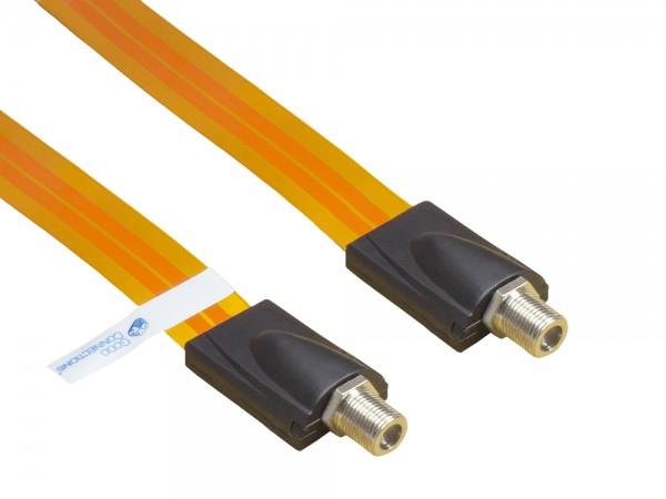 SAT Fensterdurchführung High-Quality, Gesamtlänge inkl. Stecker 26,5cm, flexible Länge 17,5cm, transparent, Good Connections®