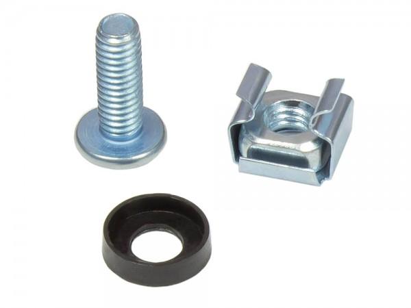 Befestigungssatz M6, Schrauben 20 mm, 50er Set, silber, Good Connections®