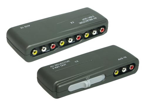 Audio-Video Umschaltbox 3-fach