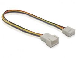Anschlusskabel für Lüfter, 4pin Stecker an Buchse, 0,20m, Delock® [82429]