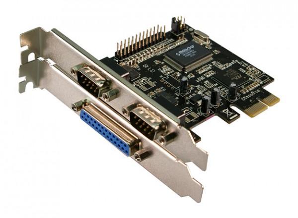 LogiLink® PCI Express Schnittstellenkarte Seriell 2x + Parallel 1x Combo [PC0033]
