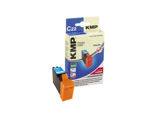 KMP Tintenpatrone kompatibel mit CANON BCI-24C