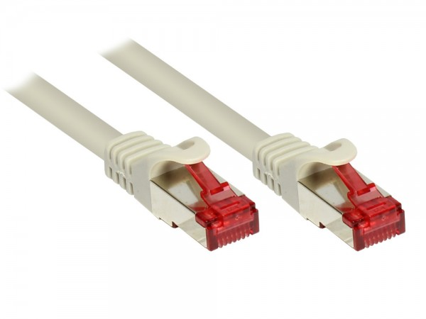 RNS® Patchkabel mit Rastnasenschutz, Cat. 6, S/FTP, PiMF, PVC, 250MHz, CU, grau, 7,5m, Good Connections®