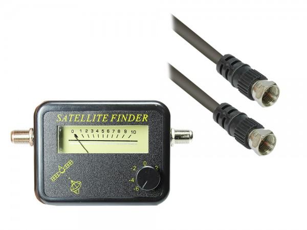 SAT Finder, mit Signalton und Kabel, 0,20m, Good Connections®