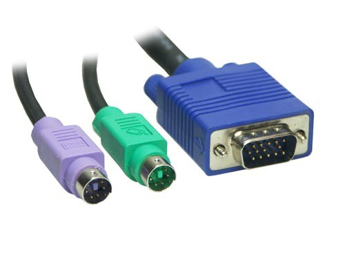 KVM Kabelsatz Stecker / Stecker Länge: 5m, Good Connections®