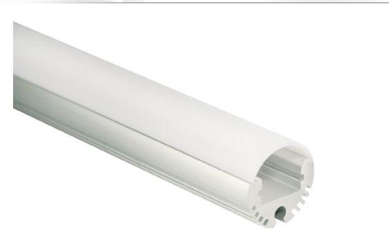 Al-Profil für LED-Leisten, Ø 20,8mm, 1m
