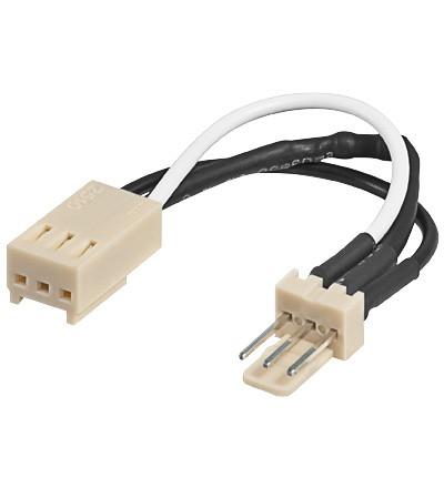 Stromadapterkabel von 12V auf 7V, 3pin Buchse an Stecker, Good Connections®
