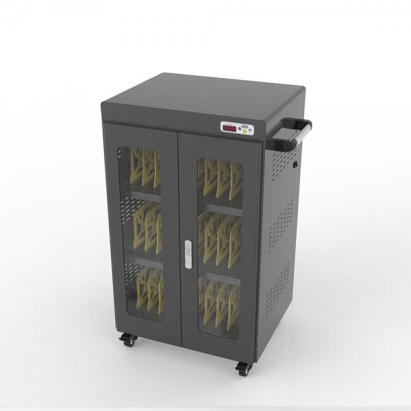 """Notebook-Ladewagen für Geräte bis 14"""" und bis zu 30 Geräten, inkl. UV-C Desinfektion und Smart Control, schwarz, Good Connections®"""