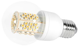LED-Lampe, 4,5W, 230V, 260 lm, 3000K, (warmweiß), dimmbar, A+, >270° Abstrahlwinkel