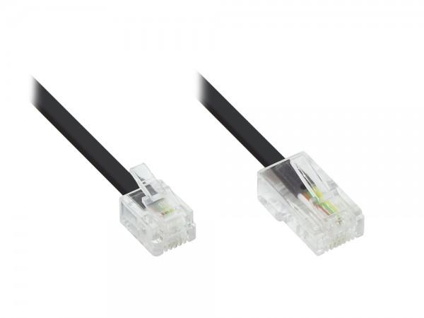 DSL Modem Kabel RJ11 / RJ45, schwarz, 6m, Good Connections®