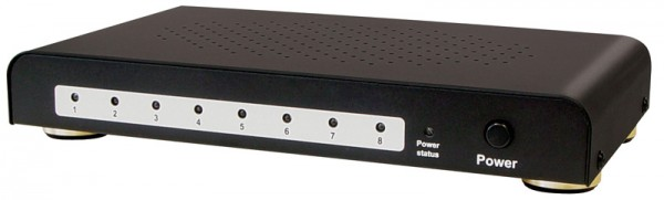 HDMI Splitter 8-fach mit vergoldeten Kontakten